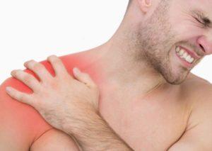 Localizzazione del dolore in una frattura clavicolare